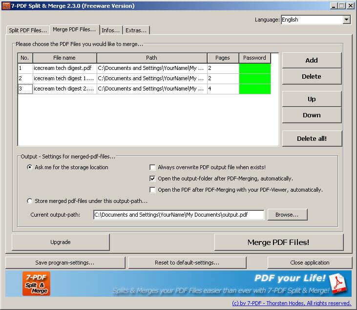 merge pdf documents windows 10