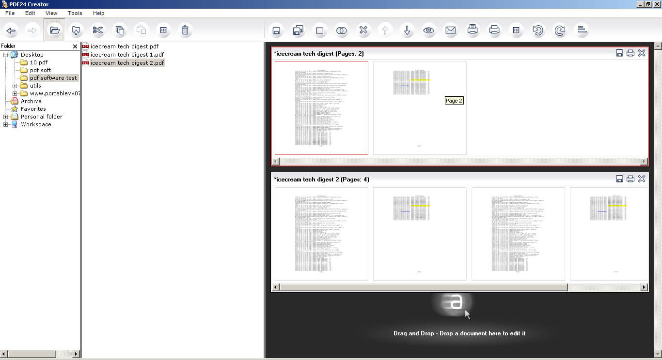 Pdf24 Creator Is A Really Nice Program For The Splitting And Merging Of Pdf  Files And
