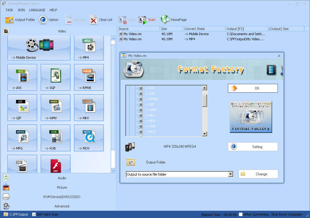 format factory converter software free  for windows 7