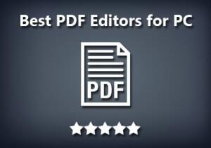 Best PDF Editor for Windows 2016