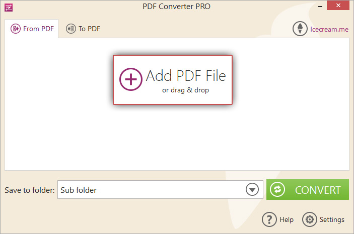 Add the PDF file