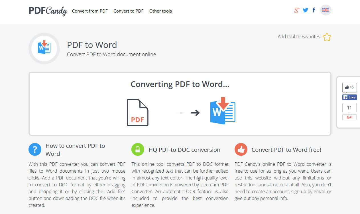 Convert PDF to Word | Free Online PDF to Word Converter