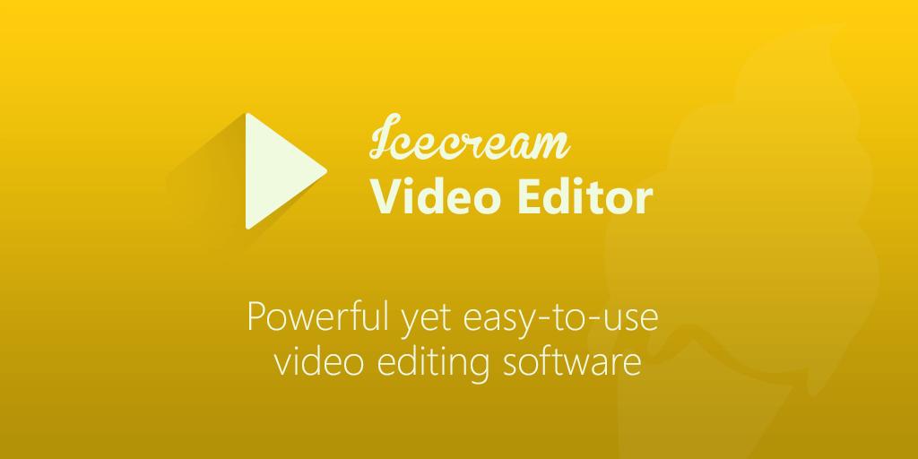 تحميل برنامج المونتاح icecream video editor مجانا