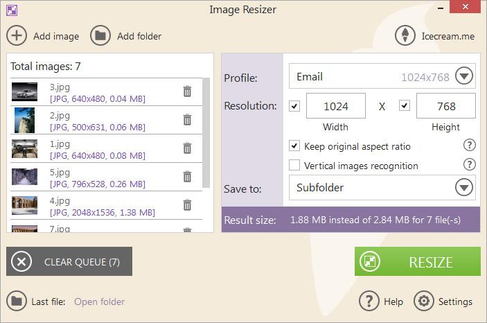 addfiles Icecream Image Resizer – Phần mềm thay đổi kích thước ảnh Facebook Ninja
