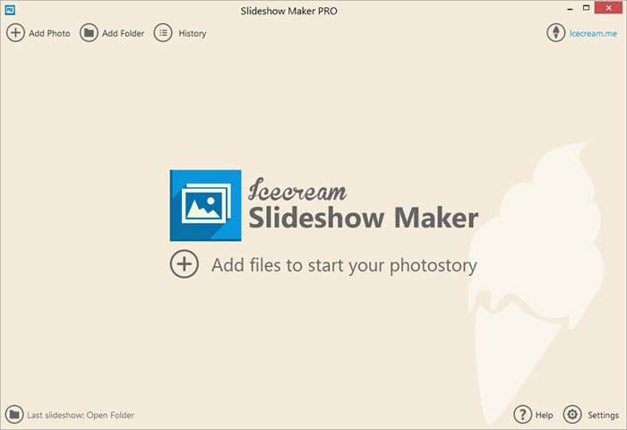 Easy tool for making slideshows from scratch.