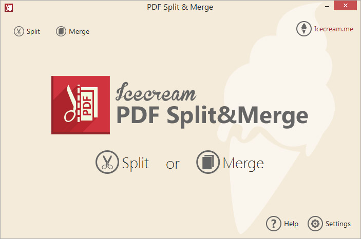 Icecream PDF Split & Merge Screen shot