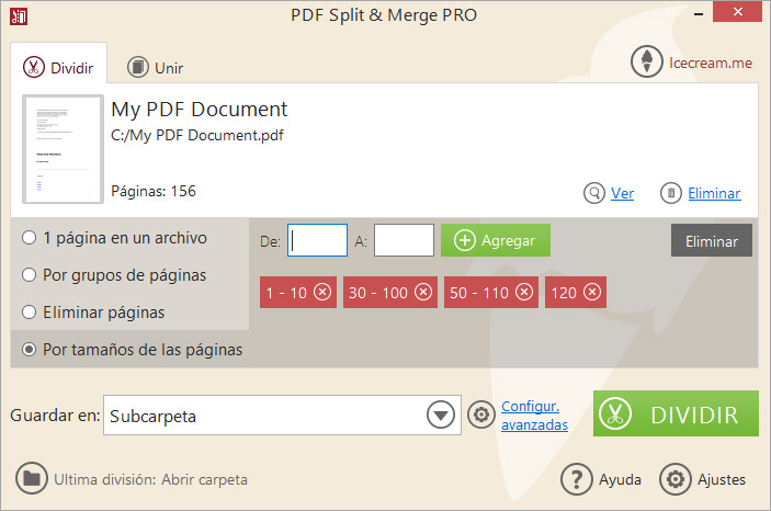 split a pdf in two mac