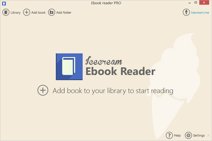 Icecream Ebook Reader Screen shot