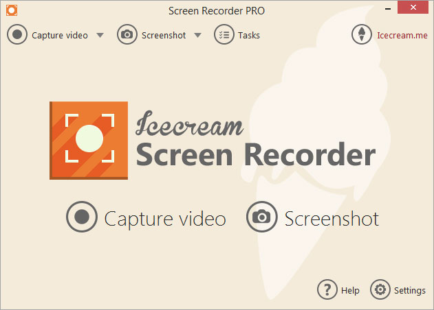 Click to view Icecream Screen Recorder 5.83 screenshot