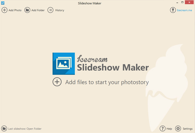 Icecream Slideshow Maker Screen shot