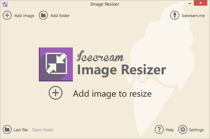 Icecream Image Resizer Screen shot